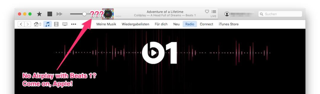 Kein AirPlay für Beats 1 am Mac? Doch, mit einem Trick!